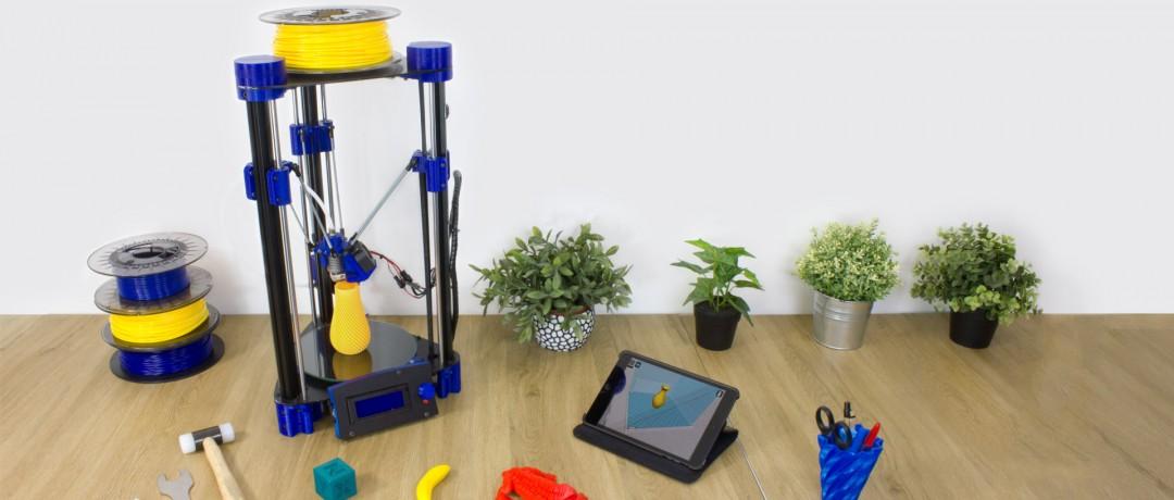 Impresora 3D DELTA en KIT para Makers, FabLab y Emprendedores